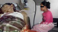 Korban saat terbaring di rumah sakit dan istrinya sebelum dibawa ke rumah sakit jiwa. (foto kolase/Istimewa).
