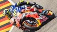 Pebalap Repsol Honda, Marc Marquez dan rider Yamaha, Valentino Rossi. (Ist)