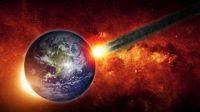Ilustrasi asteroid menabrak Bumi. (Shutterstock)