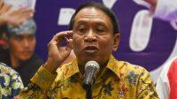 Menpora Zainudin Amali memberikan keterangan pers terkait agenda olahraga yang akan dihadapi Indonesia di Kemenpora, Jakarta, Kamis (14/11/2019). [Antara/Nova Wahyudi]