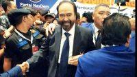 Ketua Umum Partai NasDem, Surya Paloh saat pada Pembukaan Kongres II Partai NasDem, di JIExpo Kemayoran, Jakarta, Jumat malam (8/11/2019). (Suara.com / Stephanus Aranditio)