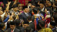 Gubernur DKI Jakarta Anies Baswedan bertemu dengan Mantan Gubernur DKI Jakarta Basuki Tjahaja Purnama. (Ist)
