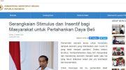 Relaksasi kredit darurat corona oleh Presiden RI Joko Widodo