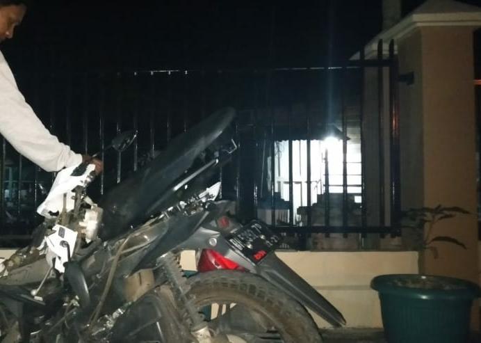 Kondisi motor korban. Foto: Yogi/Jambiseru.com