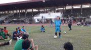 Al Haris saat sambangi stadion tri lomba juang. Foto: Yogi/Jambiseru.com