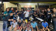 Tujuh pelaku yang berhasil diringkus resmob polda jambi. Foto: Yogi/Jambiseru.com