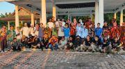KNPI Kabupaten Tebo bersama ormas dan Komunitas yang melaksanakan kegiatan kirab dan sholawat bersama. Foto: Rian/Jambiseru.com