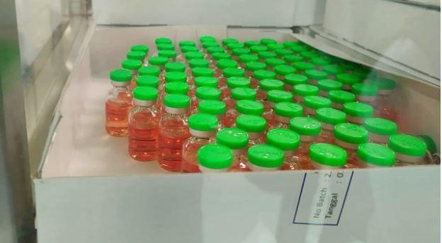 Botol kecil yang nantinya bakal digunakan untuk wadah vaksin corona. (Ist)