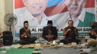 Calon wakil gubernur Jambi nomor urut 3, Abdullah Sani saat silaturahmi bersama masyarakat kecamatan Alam Barajo. Foto: Jambiseru.com