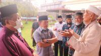 Calon gubernur dan wakil gubernur Jambi, Al Haris dan Abdullah Sani saat silaturahmi bersama tokoh bugis Kota Jambi, H Muhammad Arpinal Patiroi. Foto: Jambiseru.com