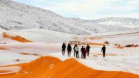 Salju di Gurun Sahara