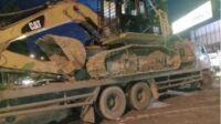 Excavator yang diamankan Polres Merangin diduga untuk kegiatan PETI