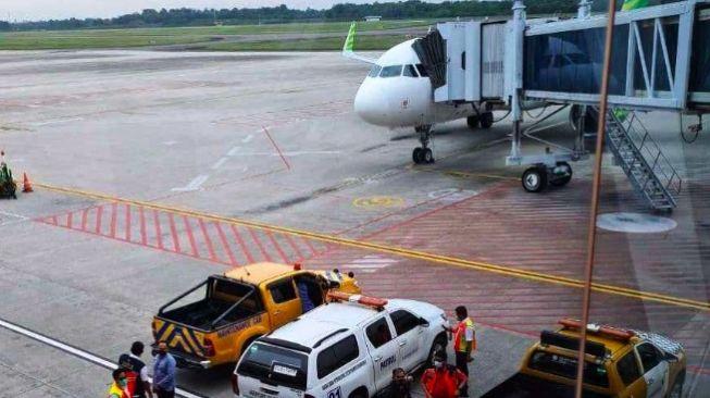 Pesawat Citilink Mendarat darurat