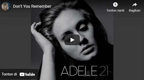 lirik lagu Don't You Remember
