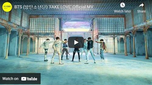 lirik lagu Fake Love