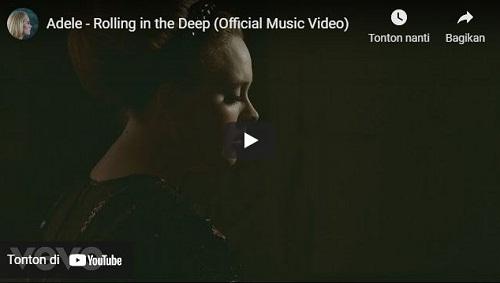 lirik lagu Rolling In The Deep